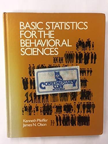 9780030498664: Basic Statistics for Behavioural Sciences