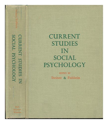 9780030502606: Current Studies in Social Psychology
