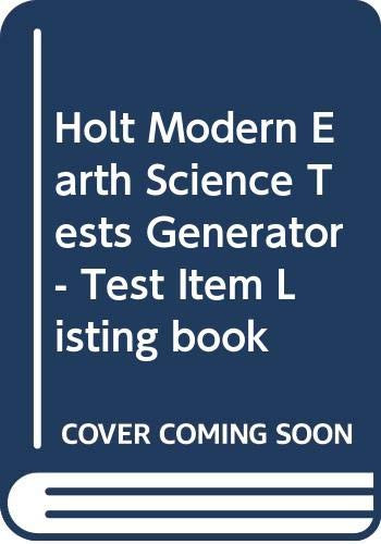 Modern Earth Science : Test Item Printout: Holt, Rinehart and