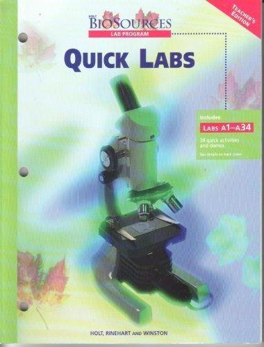 9780030506949: Holt Biosources : Quick Labs