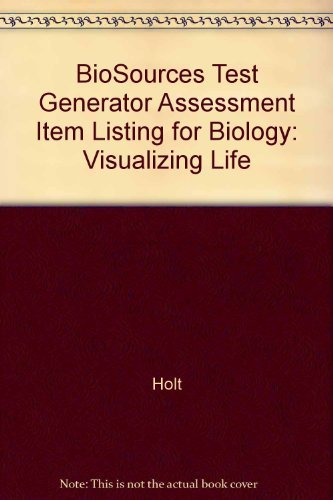 9780030507076: BioSources Test Generator Assessment Item Listing for Biology: Visualizing Life