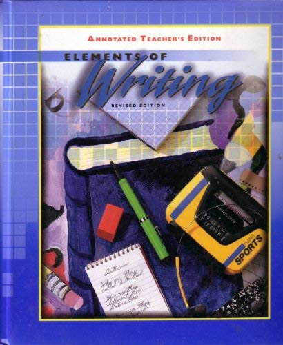 9780030508738: Elements of Writing, Course 1, Grade 7, Revised Edition, Annotated Teacher's Edition