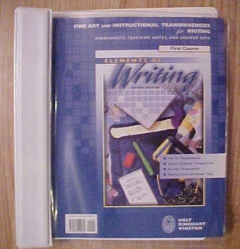 Elements of Writing, First Course, Revised Edition: Fine Art & Instructional Transparencies (...