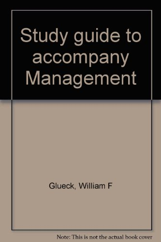 9780030509117: Study guide to accompany Management