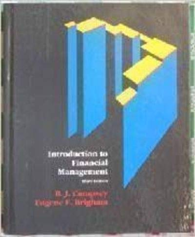 9780030510083: Introduction to Financial Management (The Dryden Press series in finance)