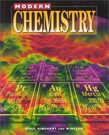 9780030511226: Holt Modern Chemistry: Student Edition Grades 9-12 1999