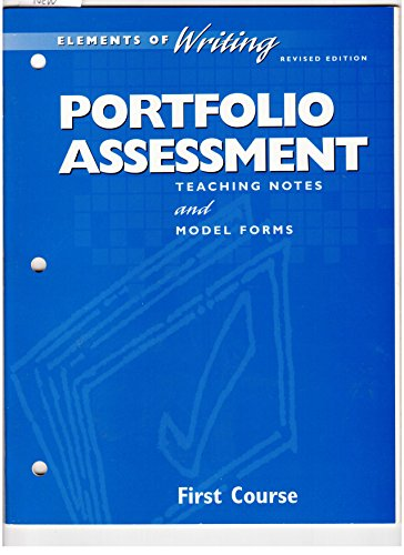 9780030511486: Portfolio Assessment (Elements of Writing, 1st Course, Grade 7)