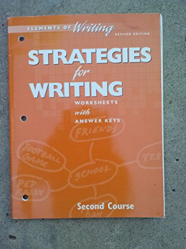 9780030511530: Strategies for Writing Eow 98 Gr 8