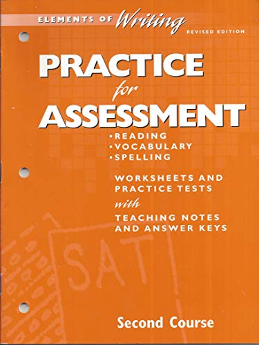 9780030511639: Practice for Assessment - Elements of Writing - Second Course
