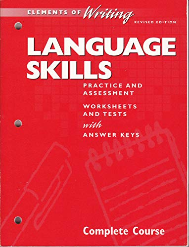 9780030512094: Elements of Writing Language Skills Practice and Assessment Complete Course (Grade 12)