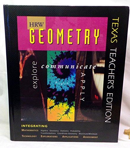 9780030512483: HRW Geometry (Texas Teacher's Edition)