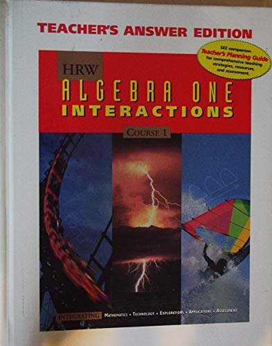 9780030512575: HRW Algebra One Interactions Course 1 Teacher Edition