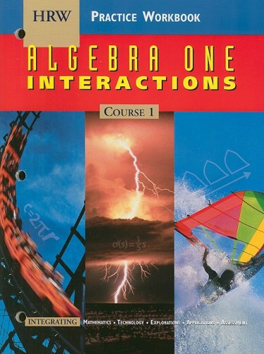 9780030512582: Holt Algebra 1 Interactions: Practice Workbook Course 1