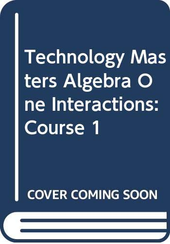 9780030512636: Technology Masters Algebra One Interactions: Course 1