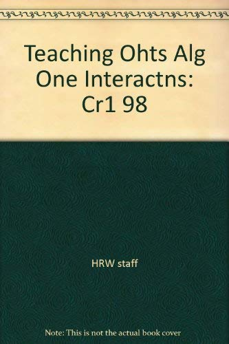 9780030512827: Teaching Ohts Alg One Interactns: Cr1 98