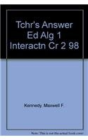 9780030512889: Algebra One: Interactions (Teacher's Answer Edition)