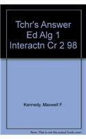 9780030512889: Algebra One: Interactions (Teacher's Answer Edition)