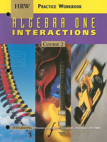 9780030512896: Holt Mathematics: Practice Workbook Algebra One Interactions Course 2