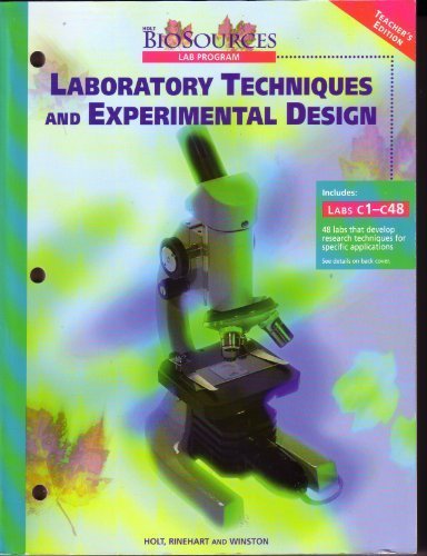9780030514043: Laboratory Techniques and Experimental Design Teacher's Edition Biosources