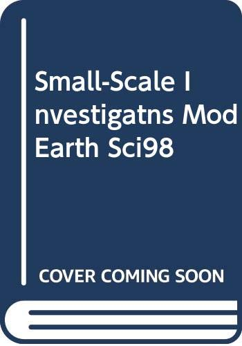 Small Scale Investigations Modern Earth Science: Holt, Rinehart and