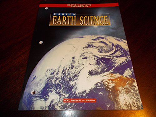 SECTION REVIEWS with Answer key MODERN EARTH SCIENCE