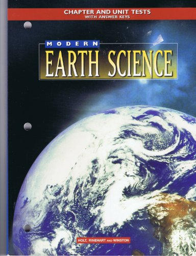 Chapter and Unit Tests Mod Earth Sci 98