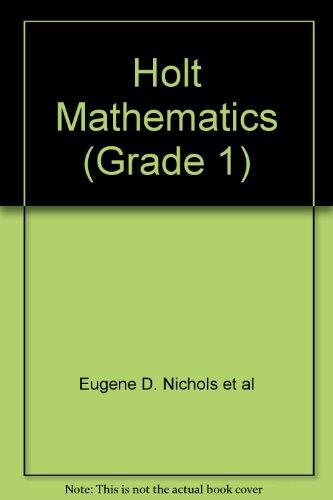 9780030515767: Holt Mathematics (Grade 1)