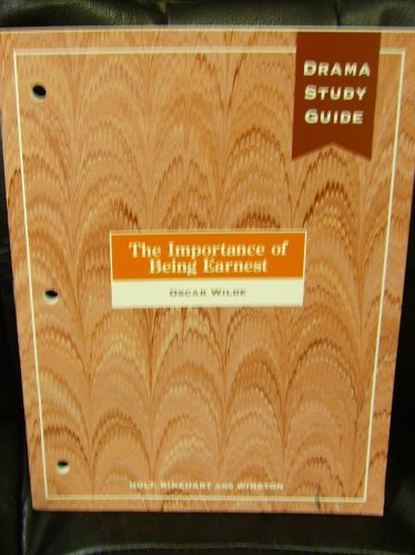 9780030515774: The Importance of Being Earnest Drama Study Guide