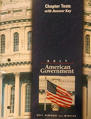 9780030516122: Chapter Tests Holt American Government99