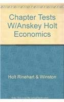 9780030516887: Chapter Tests with Answer Key (Holt Economics)