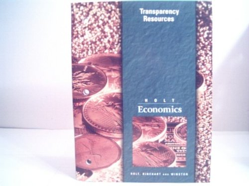 9780030516931: Holt Economics:Transparency Resources