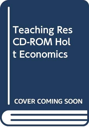 9780030516986: Teaching Res CD-ROM Holt Economics