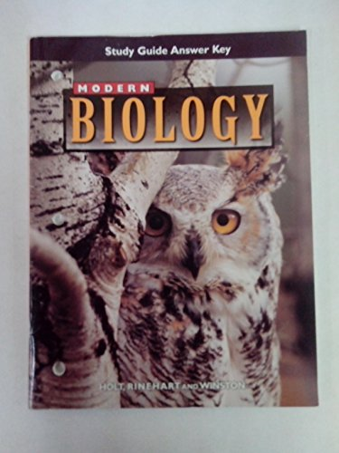 9780030517594: Study Guide Answer Key Modern Biology