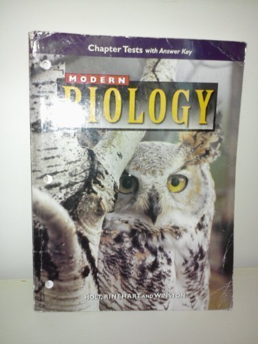 9780030517624: Modern Biology (Chapter Test with Answer Keys)