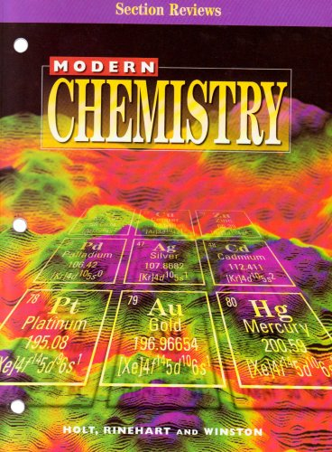 9780030517945: Modern Chemistry Section Reviews
