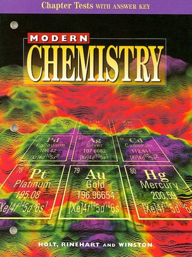 9780030517983: Modern Chemistry Chapter Tests with Answer Key