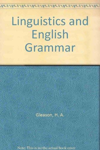 9780030518157: Linguistics and English Grammar