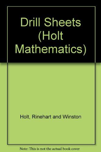 9780030518317: Drill Sheets (Holt Mathematics)