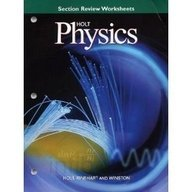 9780030518690: Holt Physics, Section Review Worksheets