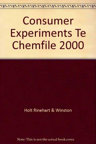 9780030518829: ChemFile Lab Program Consumer Experiments Teacher's Edition