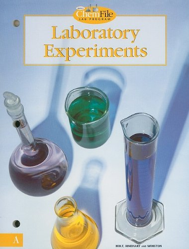 9780030519284: Holt Chemistry: Laboratory Experiments