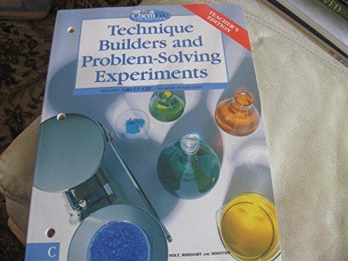 9780030519338: Technique Builders & Problem Solving Experiments: TE - Holt Chemfile