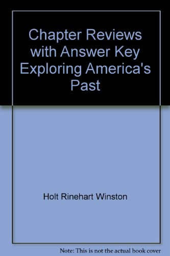 9780030519628: Chapter Reviews with Answer Key Exploring America's Past