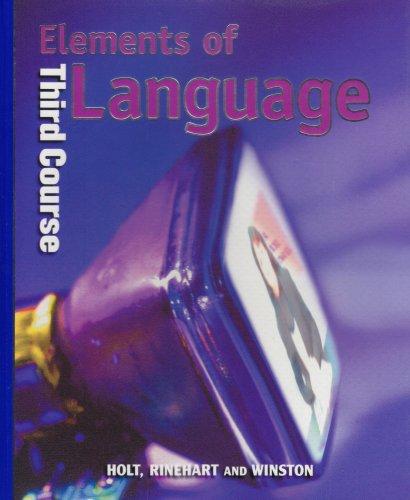 9780030520037: Holt Elements of Language: Student Edition Grade 9 2001