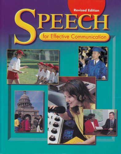 9780030520044: Holt Speech for Effective Communication: Student Edition 1999