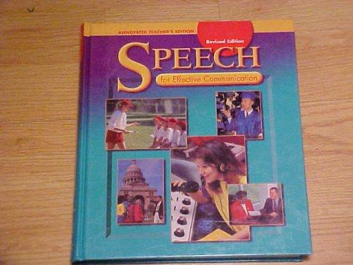 Speech for Effective Communication: Holt, Rinehart and