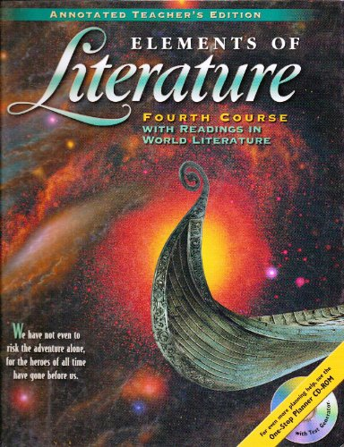 9780030521140: Elements of Literature, 4th Course, with Readings in World Literature, Annotated Teacher's Edition