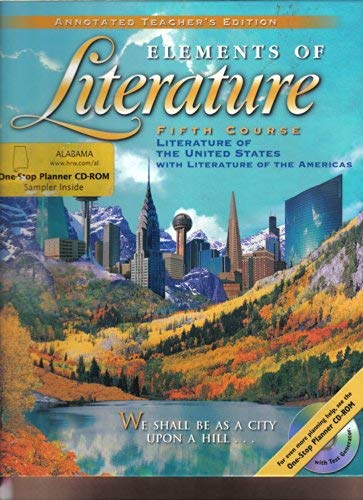 9780030521171: Elements of Literature Fifth Course Literature of the United States, Annotated Teacher's Edition