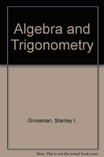 9780030521676: Algebra and Trigonometry