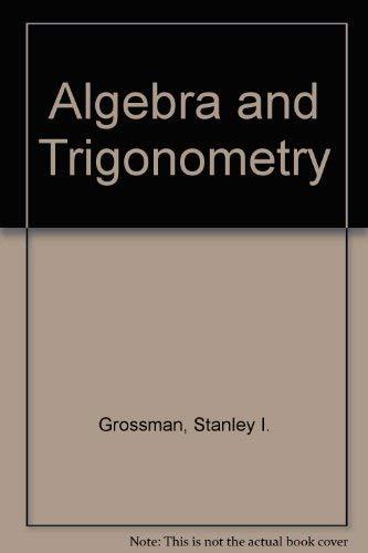 9780030521676: Algebra and Trigonometry